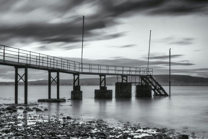 Northern Ireland Long Exposure Blackandwhite Jetty Holywood Sea Nature Belfast Eyembestpics Nikon Nikond7000