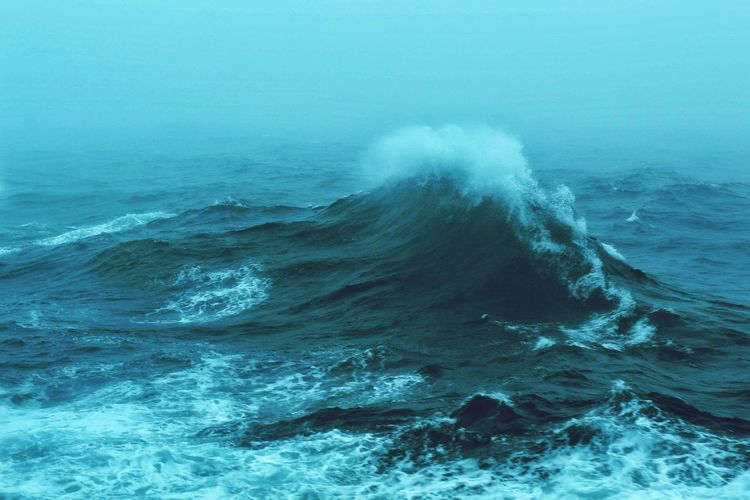 Aerial View Of Waves In Sea