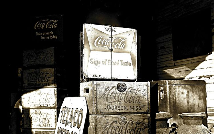 Black And White Black And White Collection  Black And White Photography Coca Cola Coca Cola Sign Coke Coke Collection Coke Signs Country Store Crates Day Indoors  No People Old Signs Signs Text Vintage Vintage Signs