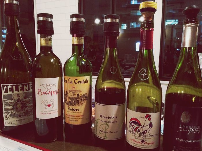 Bottle Wine Bottle Wine Alcohol Red Wine Drink Cork - Stopper Food And Drink Winery No People Indoors  Winemaking Wine Rack Winetasting Day Beaujolais Beaujolaisnouveau 🍷11/18, 2016☀️相変わらずいっぱいいっぱいだけど、ワイン飲んだら楽しくなった😊