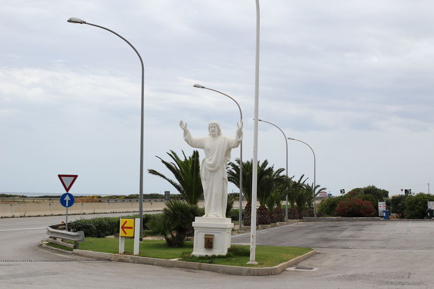 hail Hope Jesus Statue Art Believe Geometry Marbledstone Religion