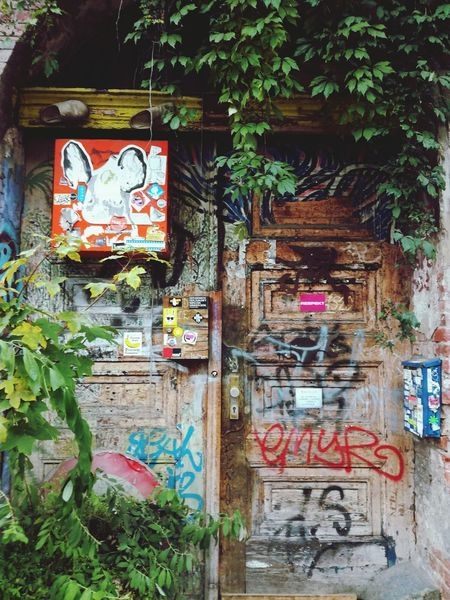 Graffiti Text Architecture Abandoned Built Structure Weathered Day No People Multi Colored Building Exterior Outdoors Tree Door Graffiti Bunt Freedom Antifa Spd Berlin Streetphotography Nikon D5200 NikonLife Nikon_photography_ Nikonphotography Nikon