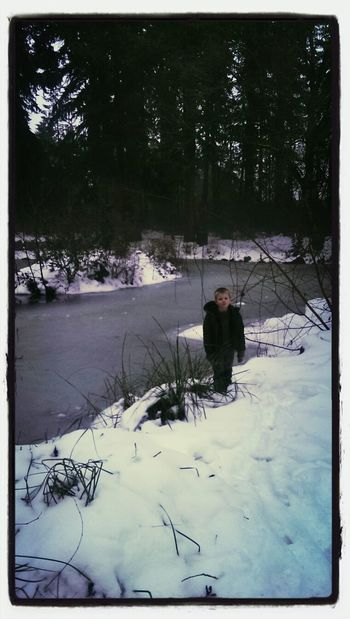 Mybubby enjoy the last of the snow.