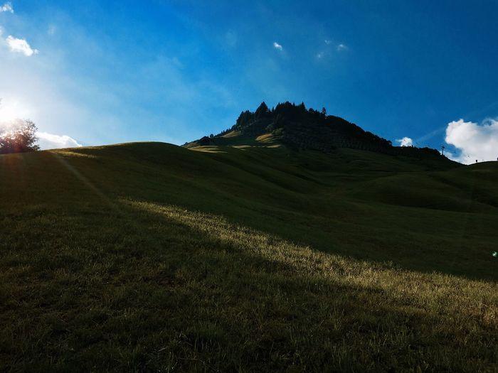 Grassy Field Against Sky