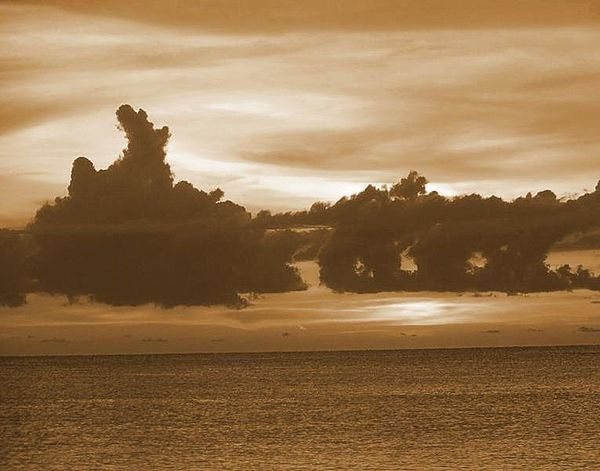 Beauty In Nature Cloud Cloud - Sky Cloudy Distant Dusk Majestic Nature Outdoors Sepia Sunset Sky Tranquil Scene Tranquility Understated