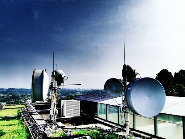 Day Sky Antenna - Aerial Rooftop No People Communication Antenna