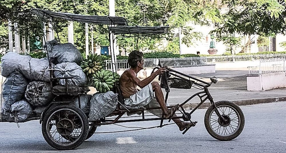 Transportation Bicycle Full Length Mode Of Transport Land Vehicle Riding Men Tree Casual Clothing Sitting Person Day Outdoors City Life Trinidad, Cuba