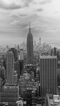 Empire State Building from the Top of the Rock. Architecture Building Exterior Built Structure City Cityscape Cloud - Sky Day Development Downtown Empire State Building Growth Modern No People Office Park Outdoors Sky Skyline Skyscraper Tall Tall - High Tower Travel Destinations Urban Skyline