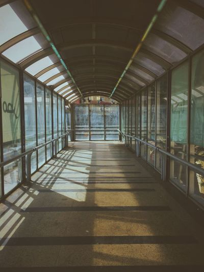 Empty corridor underneath