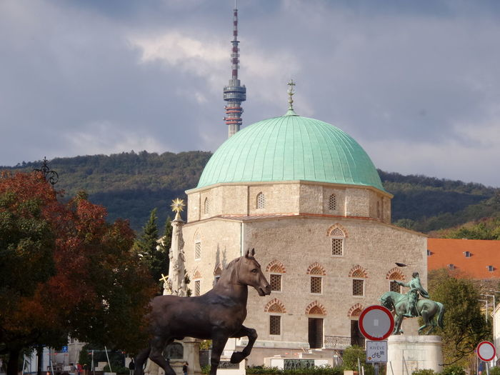 Architecture Church City Cloud - Sky Dzsámi Pécs Religion Sky Spirituality