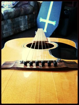 new strings on the guitar