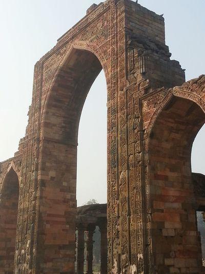 Inside the Qutub Minar Complex. UENSCO World Heritage