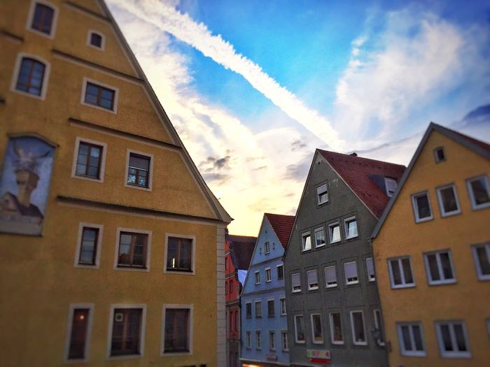 Sky Colorful Blue Germany Old Architecture