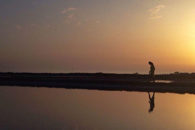 The runaway Sunset Sicily Sicilia