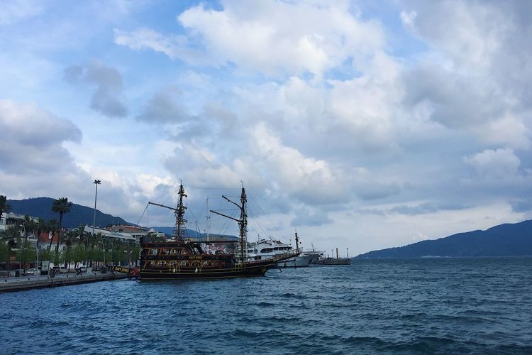 Stormy day in in Marmaris, Turkey and a look at an old wooden ship Beautiful Beauty In Nature Blog Cloud - Sky Clouds Marmaris Nature Nature Nautical Vessel Scenics Sea Shipping  Sky Spring Storm Tourism Tourism Destination Tourist Tourist Attraction  Travel Travel Blog Travel Destinations Turkey Water Windy
