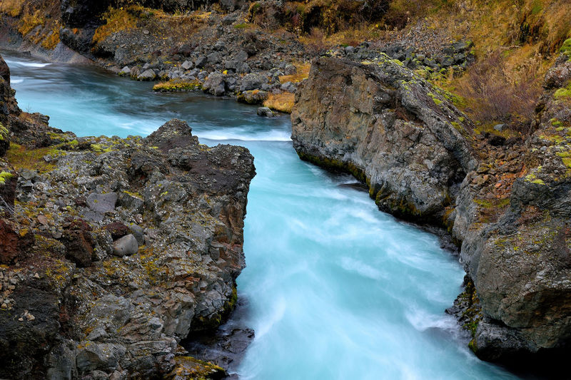 Gorge Iceland Barnafoss Beautiful Iceland Beauty In Nature Blurred Motion Canyon Colours In Nature Day Long Exposure Motion Nature No People Outdoors River Rock Formation Scenics Tranquil Scene Tranquility Water Waterfall