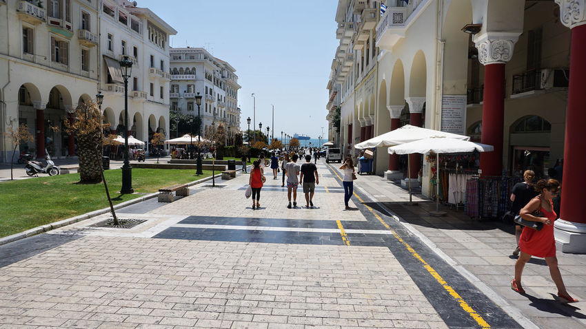 Architecture Building Exterior Built Structure City Large Group Of People People Sky Full Length Day Road Outdoors Adult Adults Only Women Men ARISTOTELOUS SQUARE THESSALONIKH Aristotelous Square Salonika Square Greece Thessaloniki Travel Destinations