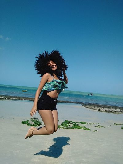 happy 😄 Hairblack Beach Bikini Beach Holiday First Eyeem Photo
