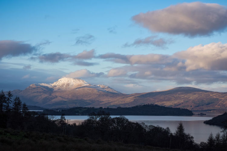 Scotland Snow Capped Mountains Winter Beauty In Nature Ben Lomond Cloud - Sky Day Evening Freshwater Lake Landscape Loch Lomond Mountain Mountain Range Nature No People Outdoors Scenics Sky Snow Spring Sunset Tranquil Scene Tranquility Water