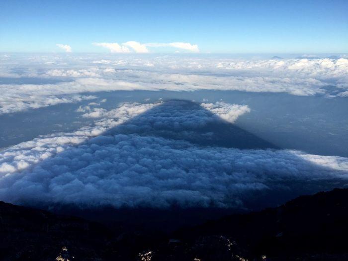 Kage-Fuji 富士山 影富士 大沢崩れ 富士山頂