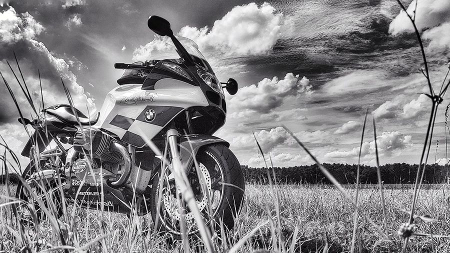Summer is back 😊 Sky Clouds And Sky Bikestyle Boxercup Makelifearide Motolife Motorsport R1100S Randymamola Cloud - Sky Growing Field