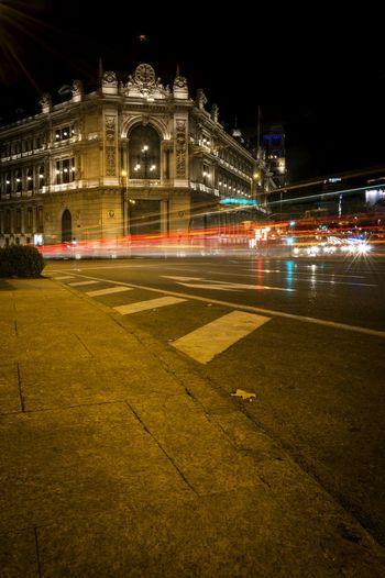 Long Exposure Night Lights Light Trails Arquitecture