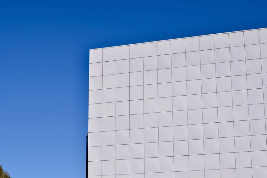 EyeEm Selects Ceramic corner against the sky Architecture Built Structure Blue Clear Sky Building Exterior Outdoors Day No People Modern Sky