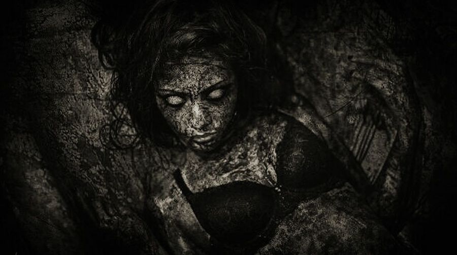 Creepy Art Showcase: November Indonesia_photography Black And White Photography Filter Artphotography Zombie EyeEm Indonesia Taking Photos Photoshop Bloodyhell Picturing Individuality