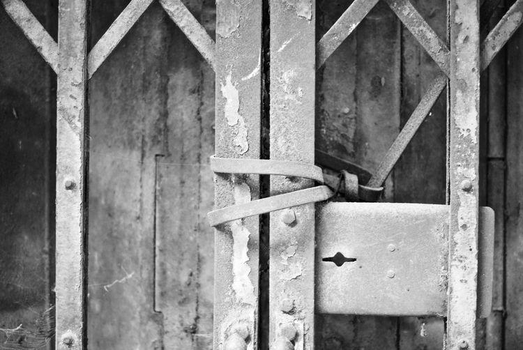 Full Frame Shot Of Metal Door