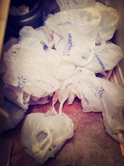 Are we the only family to hoard Walmart bags? #walmart #plasticbags #hoarders