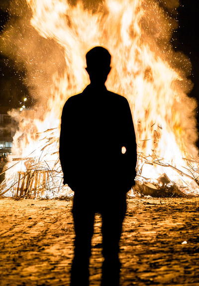 Adult Adults Only Beach Beauty In Nature Danger Fire Nature Night One Man Only One Person Only Men Outdoors People Silhouette THREATS