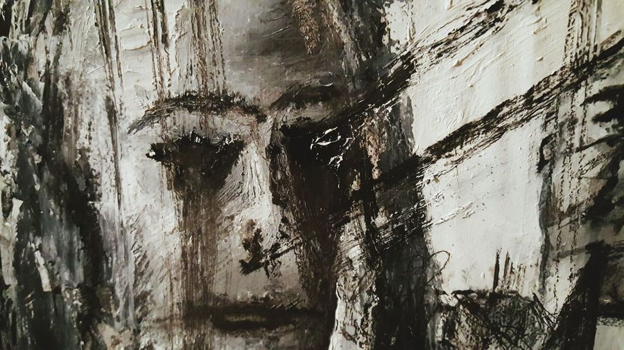 Artist Black&white Artistic Expression Artsy Art Gallery Abstract Painting ArtWork Canvas Art Art And Craft Darkness And Beauty Darkness And Light Arts Culture And Entertainment Face Faces Of EyeEm