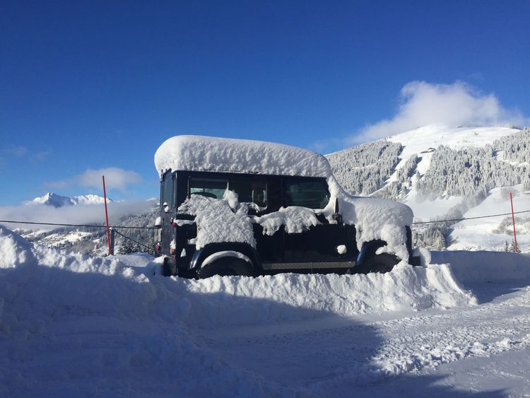 Beauty In Nature Blue Sky Blue Sky And White Clouds Cold Temperature Day Deep Snow Defender Defender90 Defender_life_style Frozen Land Rover Land Rover Defender Mountain Nature No People Outdoors Sky Snow Snowed In Snowed In This Weekend Transportation Winter