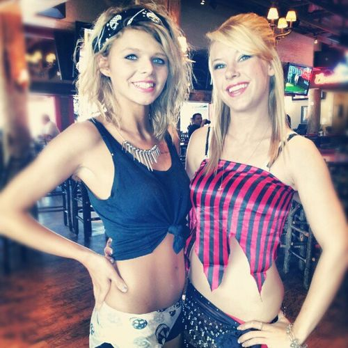 Twinpeaks Girls @sarah_wolf and Brandi on Priate Dressup . Last day :(