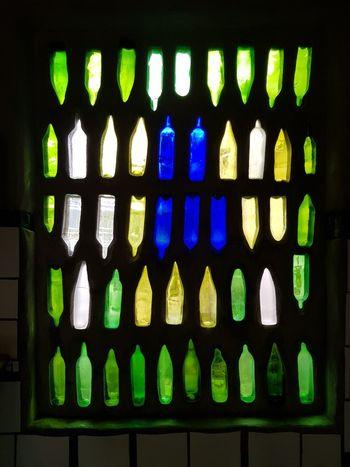 Hundertwasser Architecture Window Indoors  No People Close-up Multi Colored Day Kawakawa New Zealand