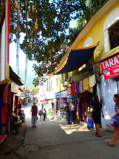 Store Day People Tree Beauty In Nature Rishikesh India Nature Outdoors Market Stall October Road LaxmanJhula Walking