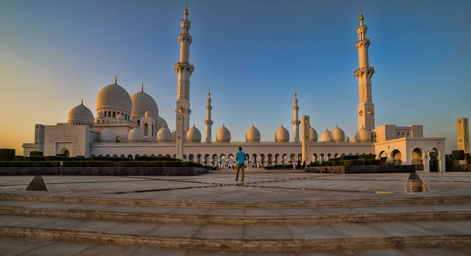 Mosque Religion Travel Destinations Dome Architecture Place Of Worship Cultures Islamic Architecture Abu dhabi UAE .Sheikh Zayed Mosque mosque