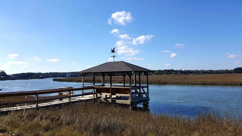 Marshland  Islandlife Pawleys Island Southern Charm Southern Living South Carolina Southern Landscapes Southern Life Eyem Nature Lovers  Dock Marsh Water Blue Wave