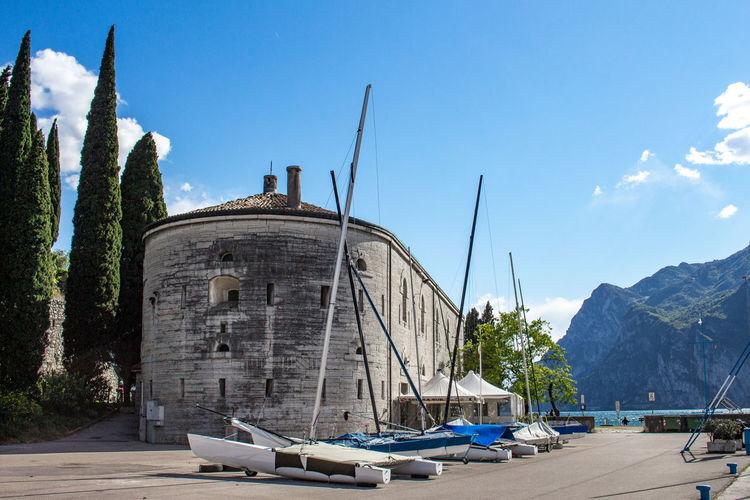 Architecture Blue Sky Burg Castle Fort Harbor Holidays Port Sailing Sailing Boat Travel Catamaran