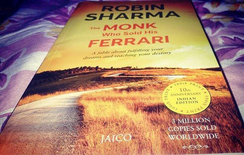 Finally got this Book The Monk  who sold his Ferrari ... Robinsharma Jaico Amazon