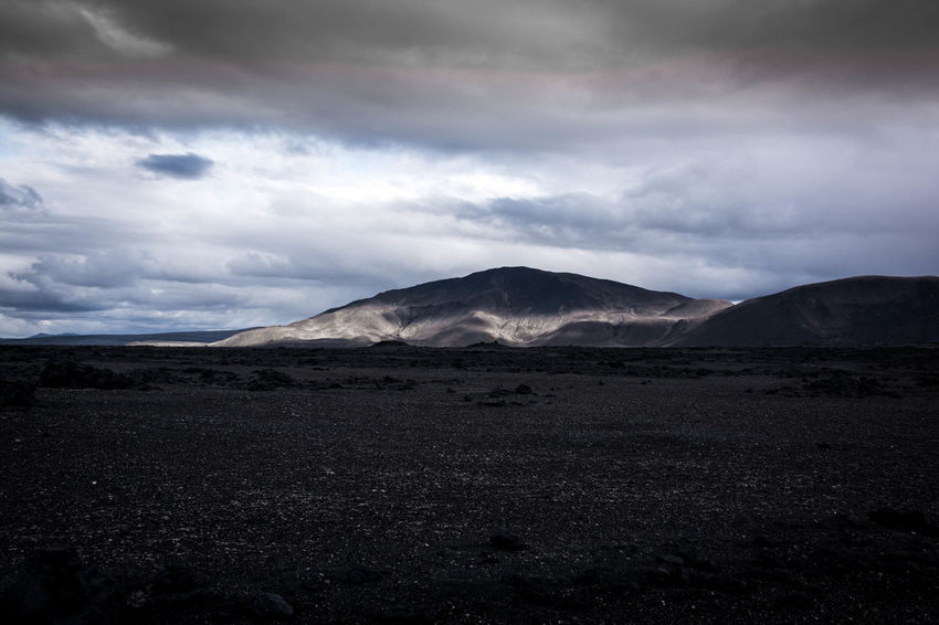 Iceland outback Mountain Environment Sky Landscape Tranquil Scene Scenics - Nature Non-urban Scene Tranquility Beauty In Nature Land No People Cloud - Sky Nature Day Barren Remote Outdoors Lone Moon Landscape No Plants No Vegetation Dead Stone Volcano Idyllic Mountain Peak