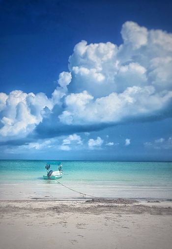 turquoise boat