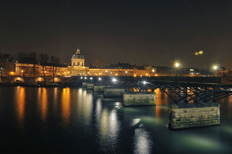 Multi coloured Seine River, Paris 43 Golden Moments Architecture Built Structure Dark Nature Night Night View Of Paris No People Reflection River River Seine Standing Water Travel Destinations Water 43 Golden Moments, Showcase June