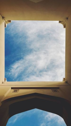 Sky Cloud - Sky Transportation Low Angle View Nature No People Architecture Window Day Blue Sunlight