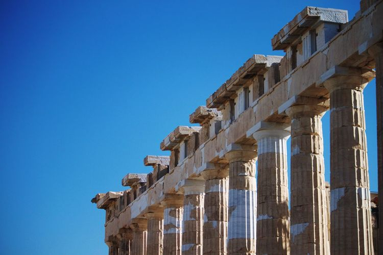The Parthenon Greece Greek Famous Place International Landmark Seven Wonders Of The World History Negative Space Temple Athena Historical Monuments Marble Columns And Pillars Architecture Historical Building