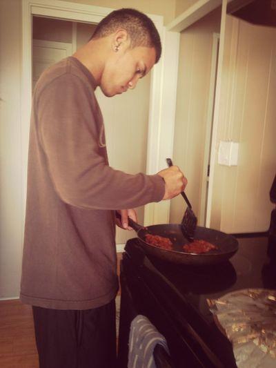 He cooked me breakfast