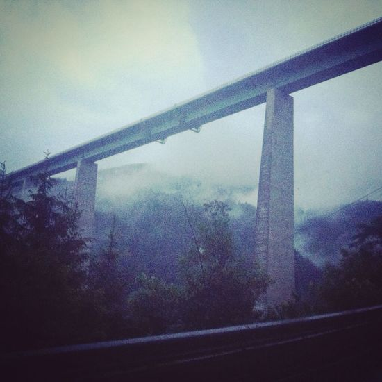 Europabrücke Bridge Fog Montains    Feel The Journey On The Way Mobility In Mega Cities