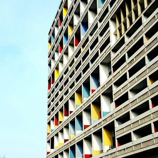 Le Corbusier Corbusierhaus Architecture Building Building Exterior Facades Balconies Urban Geometry Urban Exploration Brutalist Architecture