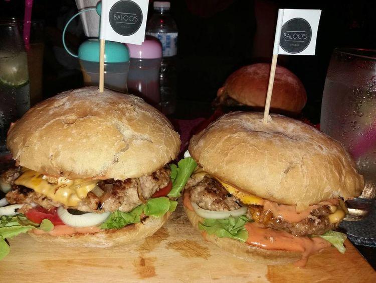 Big Hamburger Food And Drink Hamburg Harbour Hamburger Steak