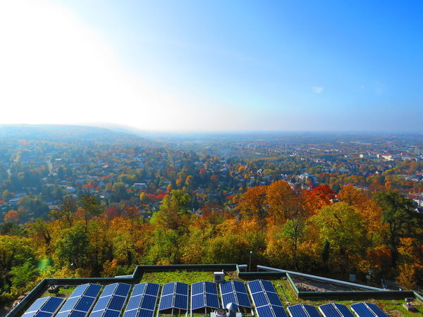Fall 🍁🍂 Solar Panels Autumn Autumn Colors Fall Colors Fall Beauty Colorful Overlooking Karlsruhe Durlach From My Point Of View From Up Here City Nature Walking Around Urban Perspective Landscapes With WhiteWall A Bird's Eye View
